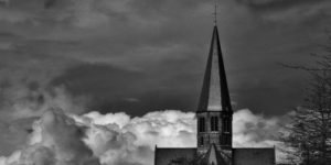 Church in clouds